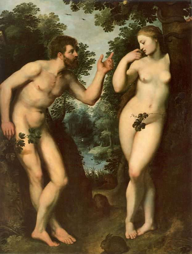 Adam and Eve, 1598-1600 by Peter Paul Rubens