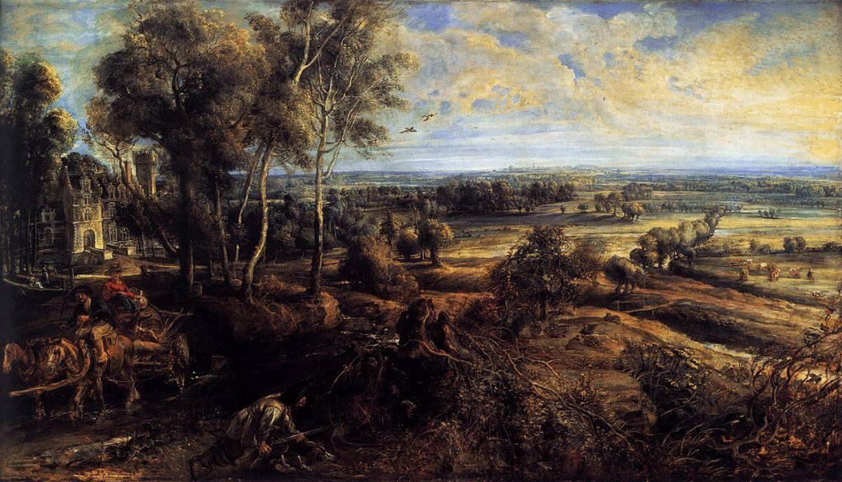 Autumn Landscape with a View of Het Steen, 1636 by Peter Paul Rubens