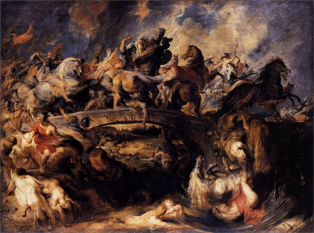 Battle of the Amazons, 1615 - 17 by Peter Paul Rubens