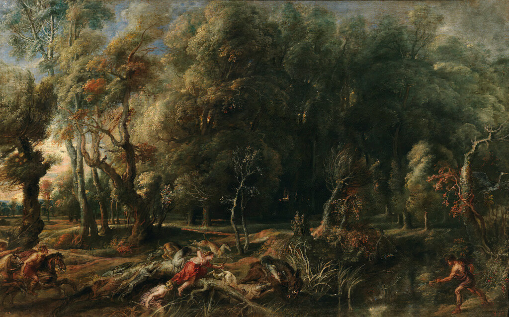 Landscape with Hunt of Atalanta and Meleager, 1635 by Peter Paul Rubens