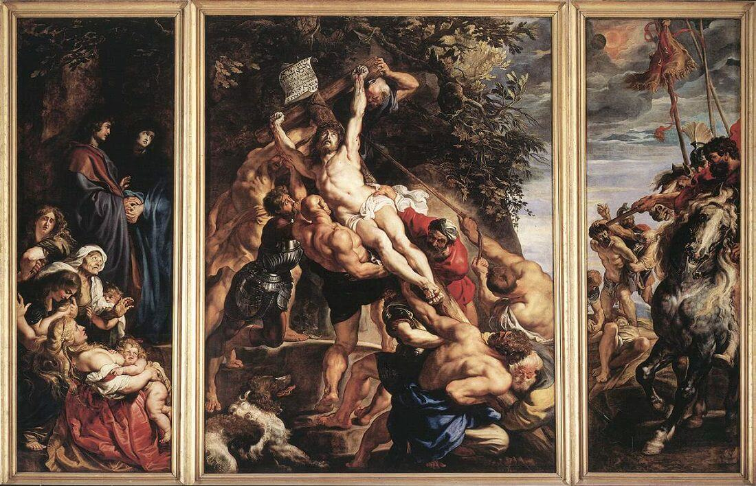 Raising of the Cross, 1610 by Peter Paul Rubens