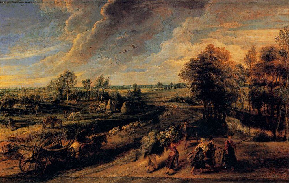 Return from the Fields,1640 by Peter Paul Rubens