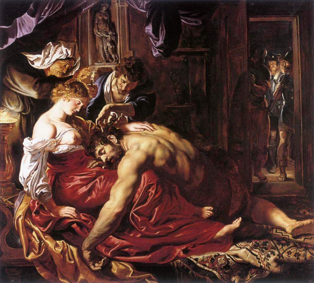 Samson and Delilah, 1610 by Peter Paul Rubens
