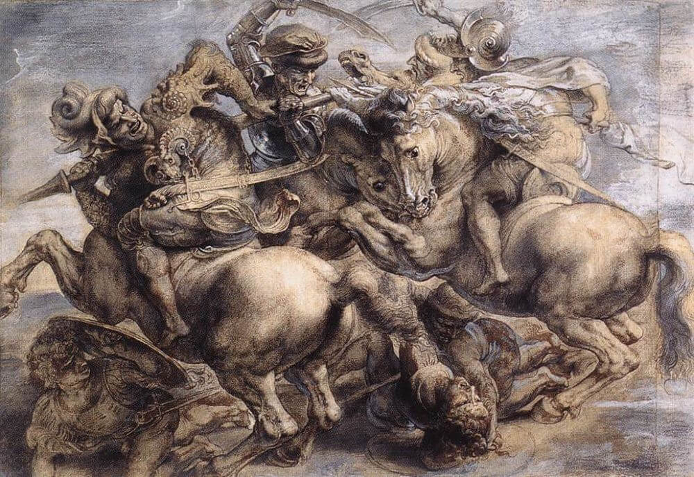 The Battle of Anghiari, 1603 by Peter Paul Rubens