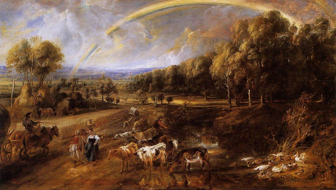 The Rainbow Landscape, 1636 by Peter Paul Rubens