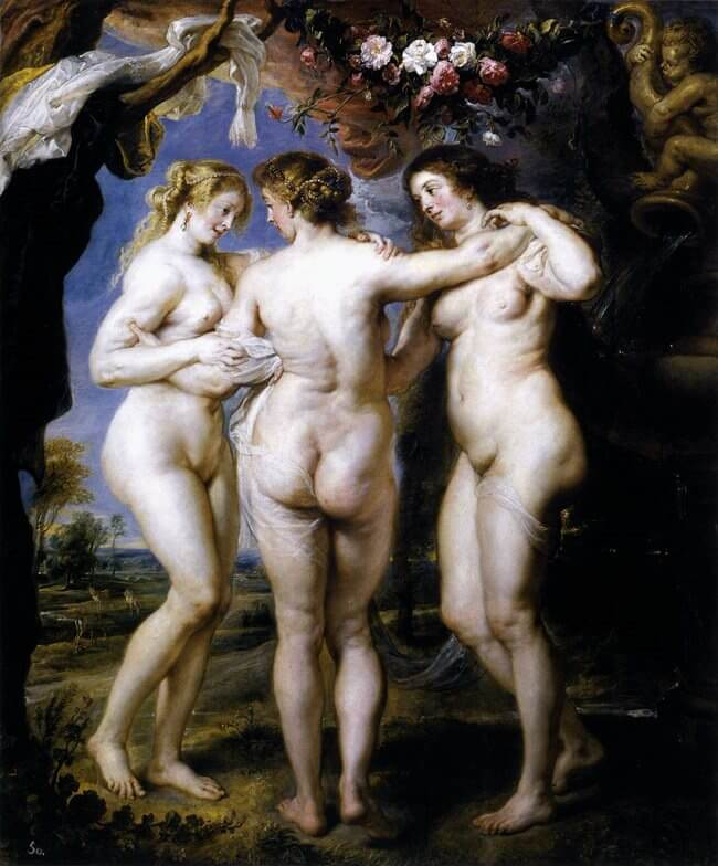 The Three Graces, 1639 by Peter Paul Rubens