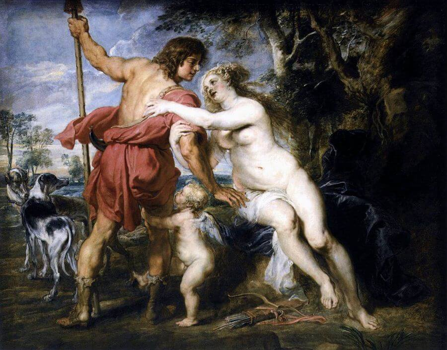 Venus and Adonis, 1635 by Peter Paul Rubens