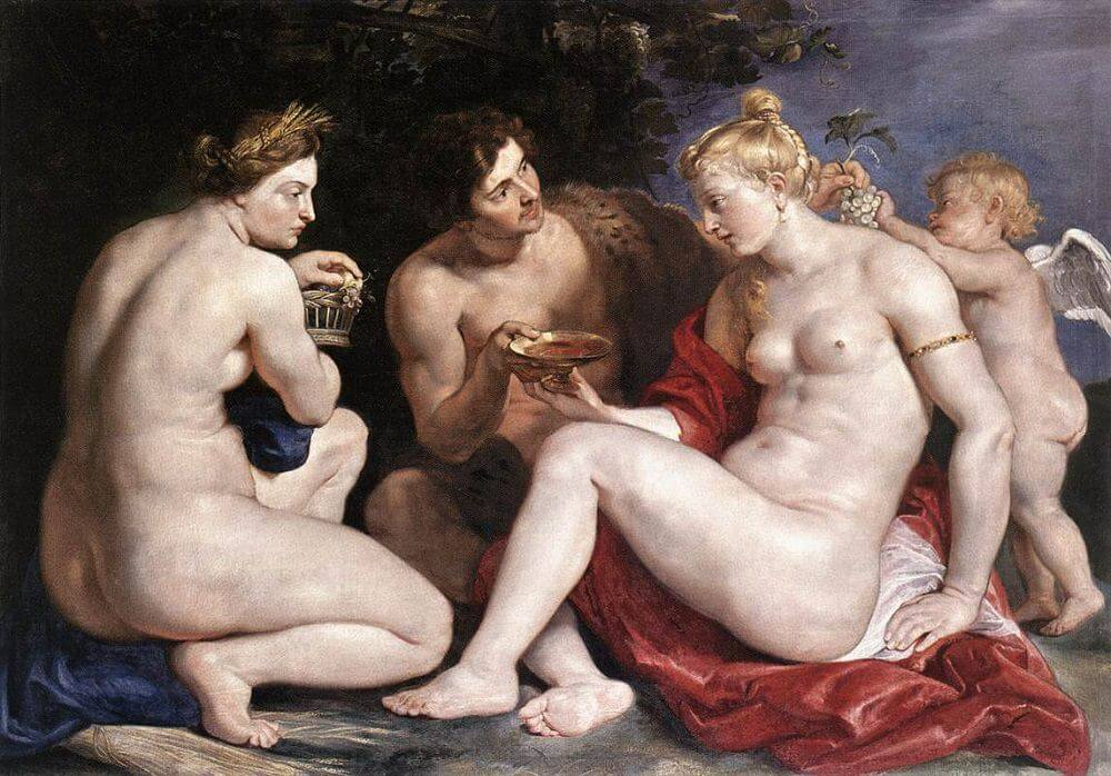 Venus, Cupid, Baccchus and Ceres, 1612 by Peter Paul Rubens